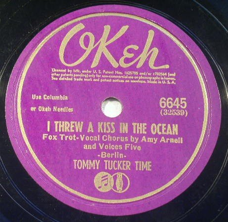 Tommy Tucker Time - Oh How I Miss You Tonight - Okeh 78rpm