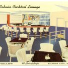 Cabana Cocktail Lounge Hotel Phillips Kansas City MO Postcard