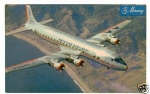 American Airlines DC-7 Flagship Postcard