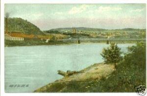 View of Oil City PA c. 1910 Postcard