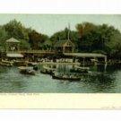 New York Central Park Boat House c. 1905 Postcard