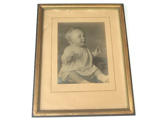 Antique Gold Gilt & Black Wall Portrait Frame 1920s 30s