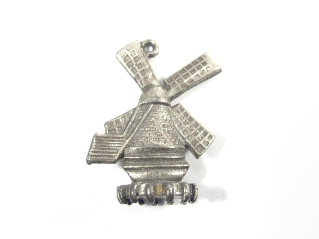 Vintage Florenza Dutch Windmill Charm For Bracelet