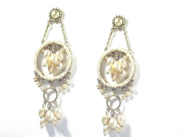 Elegant High Quality Long Dangling Faux Pearl Earrings