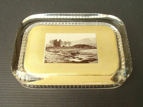 Antique Reliable Series Photograph Paperweight Original