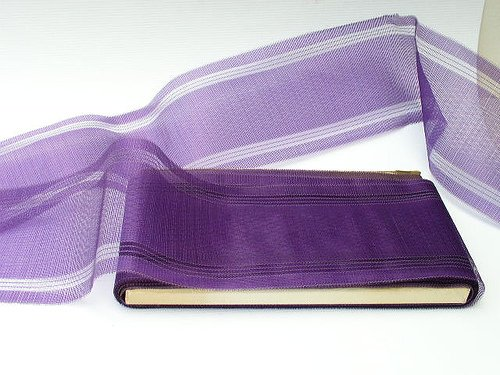 """96 ft Rare Antique 4.5"""" Wide Royal Purple French Ribbon"""