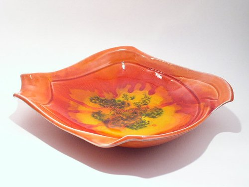 Space Age Mid Century Art Pottery Bowl by Maurice of CA
