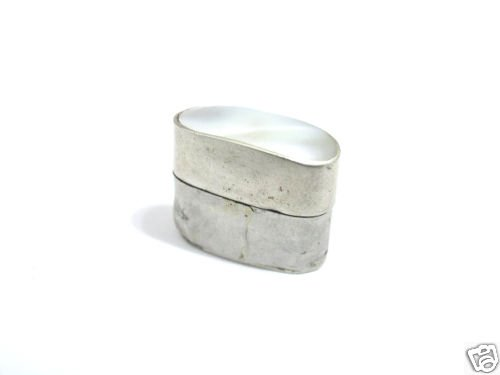Old Mexican Silver & Mother of Pearl Pill / Patch Box