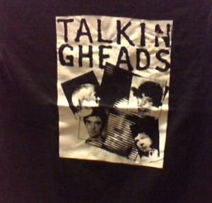Talking heads band punk rock music Retro Concert  Gift black T-SHIRT