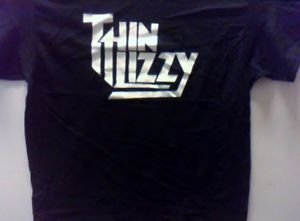 Thin Lizzy band punk rock music retro concert the best Gift Tee Black