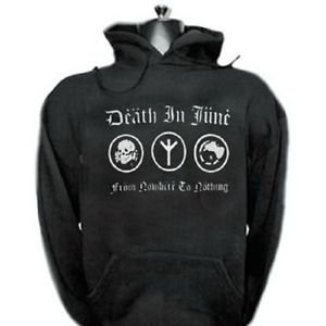 Death in June band punk rock music vintage retro style  cool hooded sweatshirt