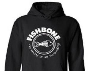 Fishbone  band punk rock music vintage retro style  cool hooded sweatshirt