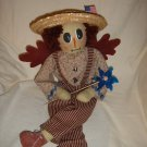 HANDMADE ANGEL BOY PATRIOTIC DOLL WITH BIRTH CERTIFICATE SUPPORTING OUR TROOPS
