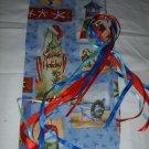 HANDMADE CHRISTMAS  SEASIDE PRINT SMALLER SIZE  WINE BOTTLE GIFT BAG