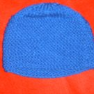 HANDMADE KNITTED BLUE HAT WILL FIT FROM CHILD TO ADULT
