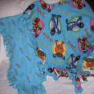 HANDMADE FLEECE ELMO AND FRIENDS PONCHO WITH MATCHING SCARF FITS SIZE 5-8 CHILD