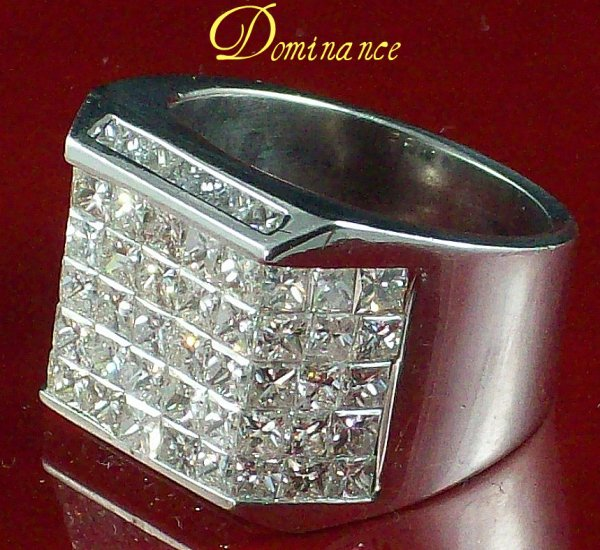 7 ctw DIAMOND AND WHITE GOLD MENS RING