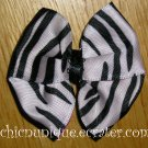 New! Zebra Print Hair Bow on Your Choice of Clip