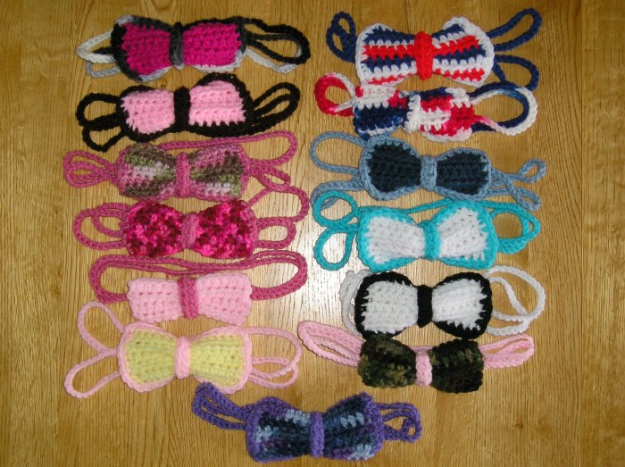 New! Crochet Headband & Attached Crocheted Bow *Colors & Size of your choice*  *FREE SHIPPING*