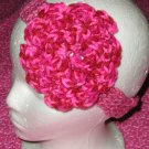 New With Tags Pink Tones Headband & 3 Layering Flower Clip
