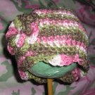 New Pink Camo Hat With Double Flower *Any Size*