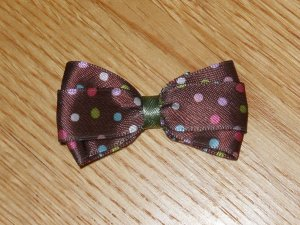"""New! Brown With Polka Dots 2.5"""" Hair Bow"""