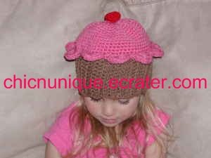 Adorable Cherry Cupcake Birthday Hat -Any Size Available- *Infant-Adult*