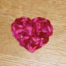 Multi-Colored Red & Pink (Mauve) toned Valentine Crochet Heart Hair Clip
