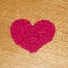 Hot Pink Valentine Crochet ♥Heart♥ Hair Clip