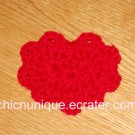 Beautiful Lace Like Valentine Crochet Red Heart Hair Clip
