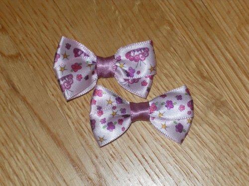 Fashionable Pink & Purple Princess Crown Hair Bows Set of 2