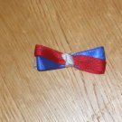 """Red, White & Blue 4th of July 2"""" Hair Bow With Knot Center"""