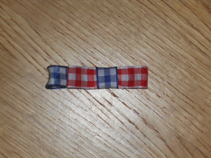 Mini Red, White, & Blue Checkered Gingham 4th of July Hair Bow Clip