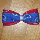 "Blue & Red Bandana Paisley Print 3.5"" Hair Bow"