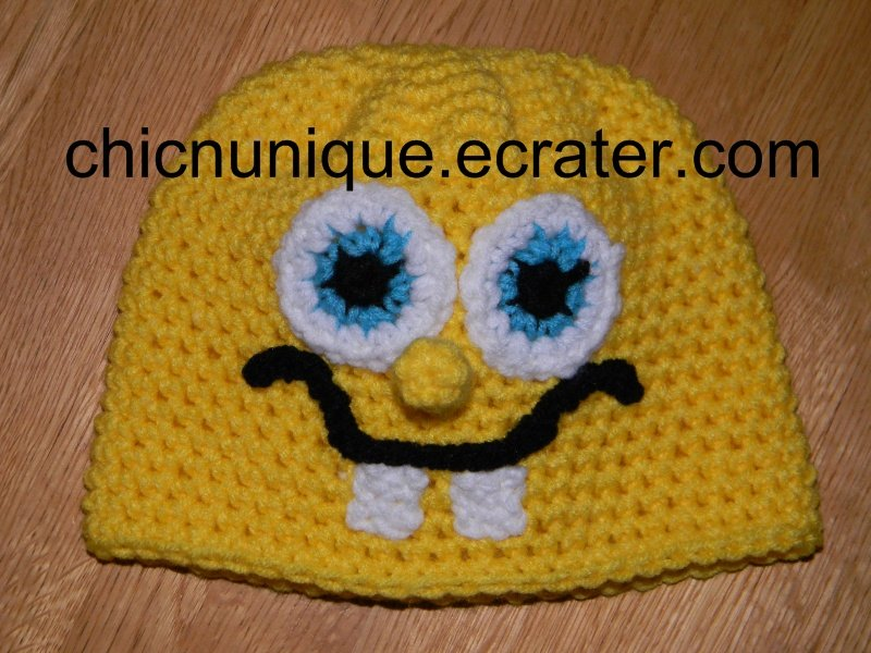Spongebob Squarepants Crochet Hat *Any Size Available*