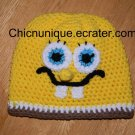 Boy's Spongebob Squarepants Crochet Hat W/ Trim*Any Size Available*