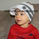 Newsboys City Cap Brim Crochet Hat *Any Size/Color Available*