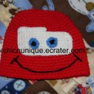 Disney Cars Lightning McQueen Crochet Hat *Any Size Available*