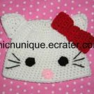 Adorable Hello Kitty Crochet Hat -Any Size- *Infant-Adult*