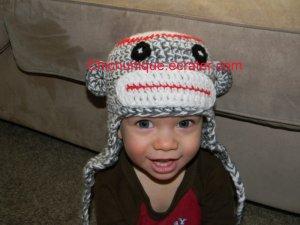 Soft & Cuddlie Sock Monkey Hat Beanie *Any Size Available*