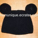 Mickey Mouse Crochet Hat With Ears *Any Size Available*