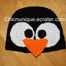 Adorable *Pittsburg Penquin*, *Happy Feet* Black Penquin Crochet Hat *Any Size Available*