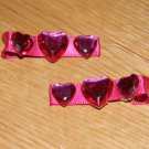 New!!  Set of Pink Heart Hair Clips