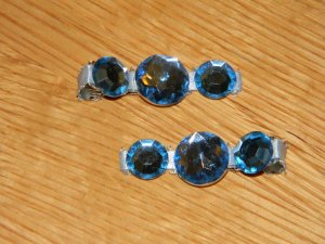New!! Set of Baby Blue Gem Hair Clips!