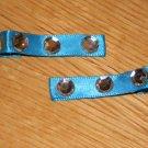 New!! Set of Turquoise Blue & Sparkle Gem Clips