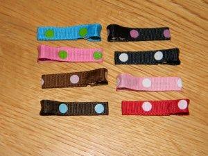 New!!  Set of 8 Multi-Pack Polka Dot Hair Clips