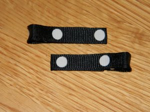 New!! Set of Black With White Polka Dot Hair Clips