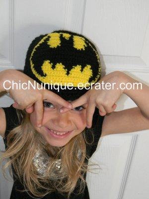 ��� BATMAN!!  Custom Crochet Hat *Any Size Available* ���