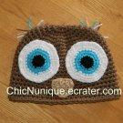 •◘• Owl Hoo Custom Crochet Hat *Any Size Available* •◘•