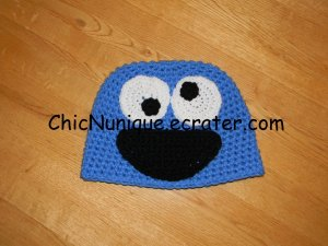 Sesame Street Cookie Monster Adorable Custom Crochet Hat *Any Size Available*